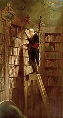 The Bookworm, a painting by Carl Spitzweg